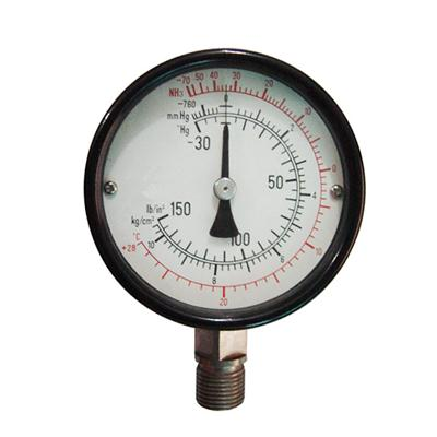 100mm Multi Scale Indication Dial Pointer Type Stainless Steel Connection Industrial Use Ammonia Met