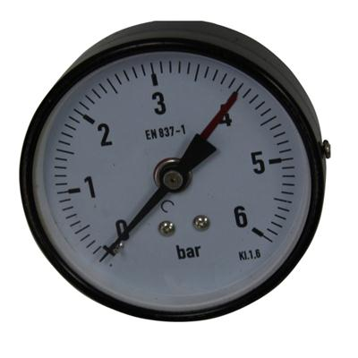 3.5inch-75mm Black Steel Case Brass Connection Back Thread Type Pressure Manometer