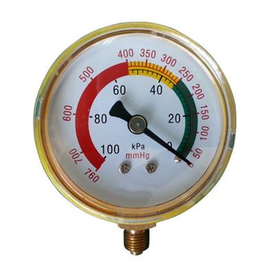 2.5inch-63mm Black Steel Case Brass Connection Bottom Thread Type Pressure Gauge2