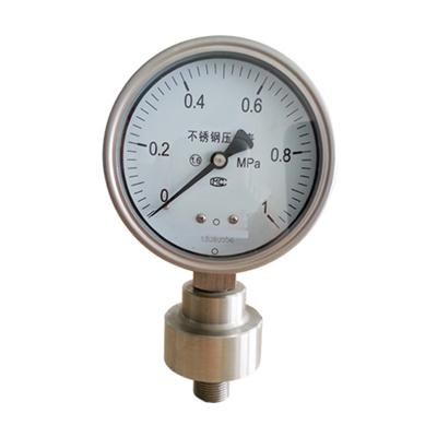 Ultra High Pressure Gauge With Diaphragm 4 Inch Diameter Range 1 Mpa Could Customized Range From -1 To 1000 Bar