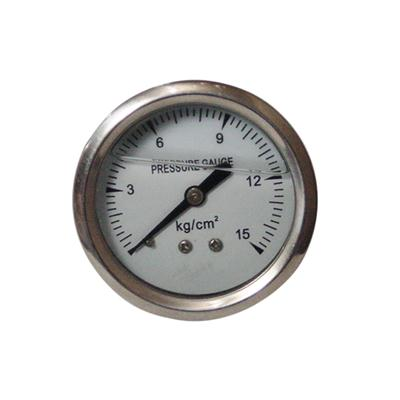 2inch-50mm Half Stainless Steel Bottom Type Liquid Filled Pressure Gauge
