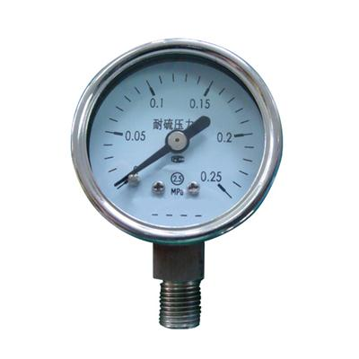 1.5 Inch-40mm Full Stainless Steel Bottom Thread Type Pressure Manometer