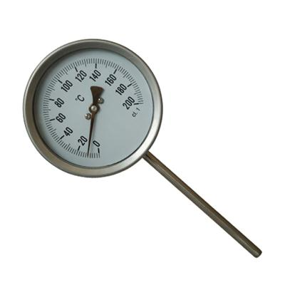 4inch-100mm Bottom Type Bi-metal High Temperature Pressure Gauge