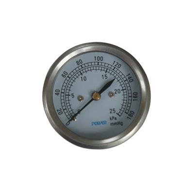 2.5-60mm Stainless Steel Case Back Type Low Pressure Pressure Gauge