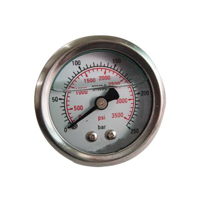 1.5inch-40mm Half Stainless Steel Bottom Type Liquid Filled Pressure Gauge