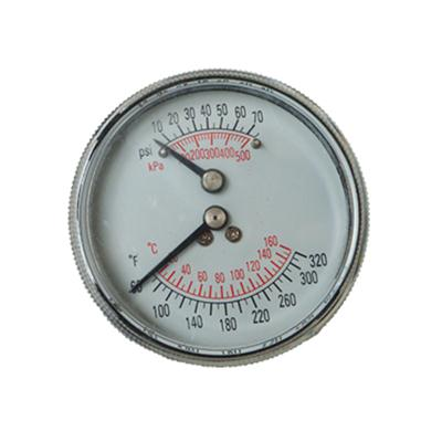 2.5inch-63mm Black Steel Case Back Type Pressure Gauge Thermometer