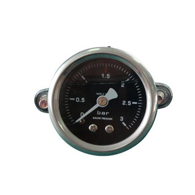 1.5inch-40mm Half Stainless Steel Back Type Liquid Filled Pressure Gauge With Butterfly Clamp