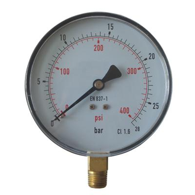 4inch-100mm Plastic Case Brass Connection Bottom Thread Type Pressure Gauge