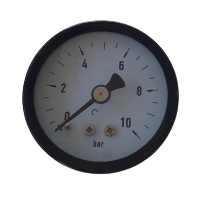 2inch-50mm Black Steel Case Brass Connection Back Thread Type Pressure Manometer