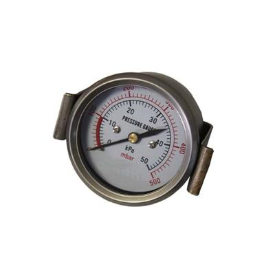 2.5-60mm Stainless Steel Case Back Type Bellows Pressure Gauges With U-clamp