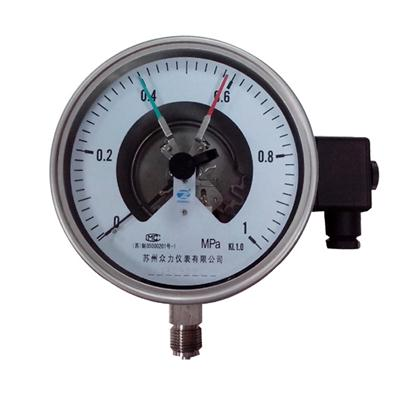 4 Inch 100mm Bottom Wika Type Full Stainless Steel Electric Contact Pressure Gauge Mpa 1