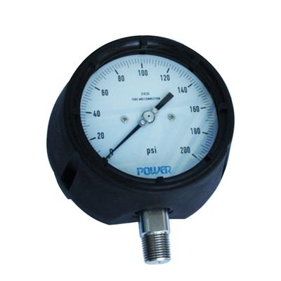 4.5Phenolic Aldehyde Case Hydraulic Oil With Adjustment Pointer Safety Type Pressure Gauge