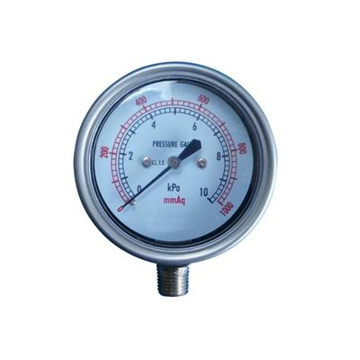 2.5-60mm 10KPa Stainless Steel Case Bottom Type Bellows Low Pressure Gauges