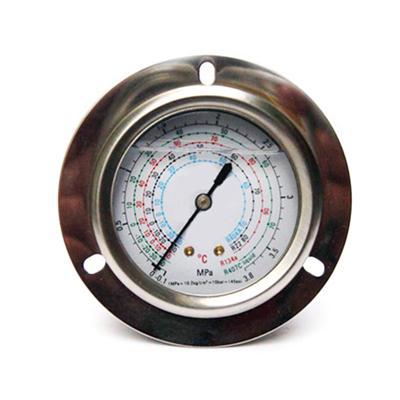 60mm Liquid Filled Type Axial Mount Front Flange Stable Quality General Refrigeration Manometer