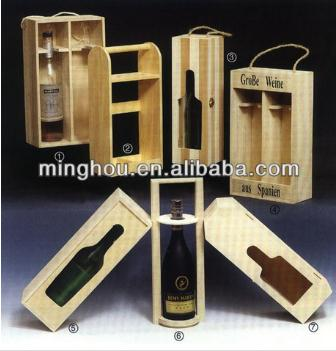High Quality Customized Cupboard Wine Box With Printed Logo MH-WB-15027