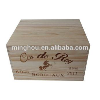 Excellent Wooden Wine Gift Box For 6 Bottles MH-WB-15028