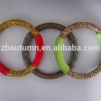 Colorful Long Velvet Steering Wheel Cover