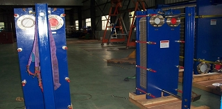Free Flow plate heat exchanger for waste water treatment