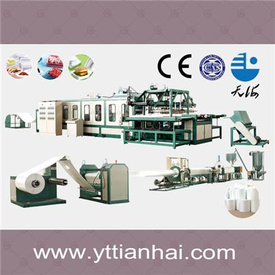 Full Automatically PS Foam Food Container Production Line Mechanical Hands Type