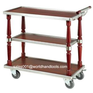 Three Layer Wood Service Cart