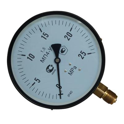 6inch-150mm Black Steel Case Brass Connection Bottom Thread Type Pressure Gauge2