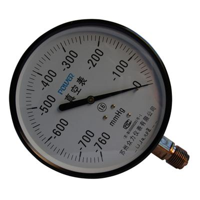 6inch-150mm Black Steel Case Brass Connection Bottom Thread Type Pressure Gauge