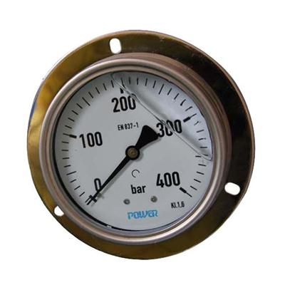 4 Inch-100mm Full Stainless Steel Back Thread Type Pressure Manometer With Flange