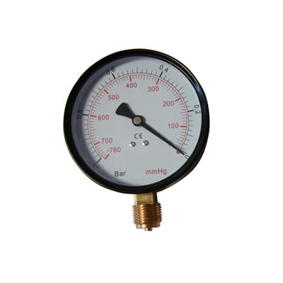 2.5inch-63mm Black Steel Case Brass Internal Bottom Vacuum Gauge Pressure