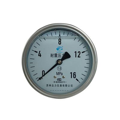 4inch-100mm Half Stainless Steel Back Type Liquid Filled Pressure Gauge WIKA Style