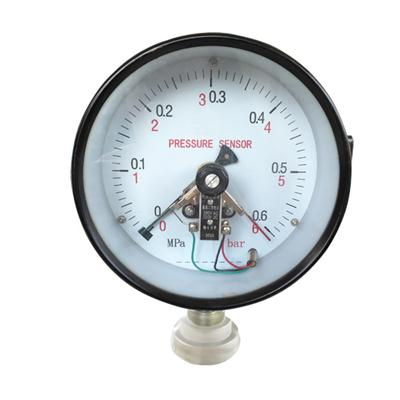 150mm 6 Inch Bottom Black Steel Case Electric Contact Pressure Gauge Manometer