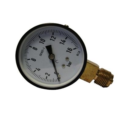 3.5inch-75mm Black Steel Case Brass Connection Bottom Thread Type Pressure Gauge1