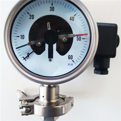 4 Inch Clamp Connection Diaphragm Seal Pressure Gauge With Electric Contact