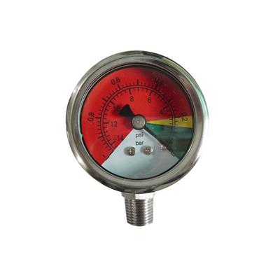 2inch-50mm Full Stainless Steel Bottom Type Vacuum Pressure Gauge