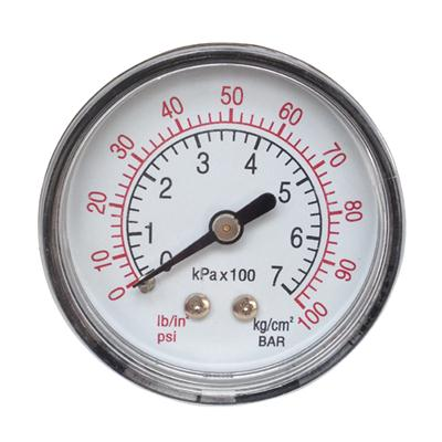 2inch-50mm Plastic Case Brass Connection Back Thread Type Pressure Manometer