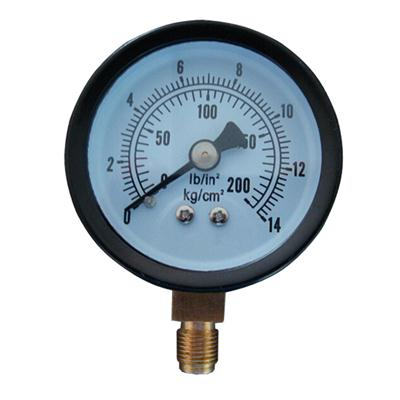 2inch-50mm Black Steel Case Brass Connection Bottom Thread Type Pressure Gauge2