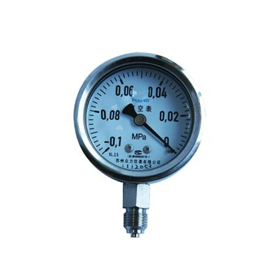2.5inch-63mm Stainless Steel Glycerin Or Silicone Oil Filled Bottom Vacuum Pressure Gauge