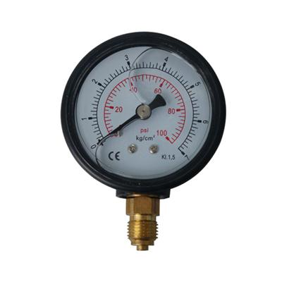 2.5inch-63mm ABS Plastic Case Bottom Type Liquid Filled Pressure Gauge