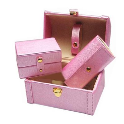 Portable Leather Jewelry Box
