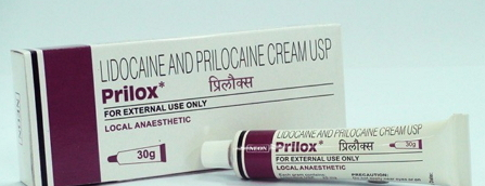Lidocaine and Prilocaine Prilox Cream