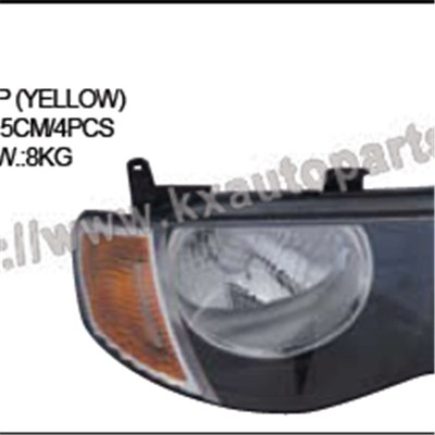 MITSUBISHI L200 HEAD LAMP YELLOW LH