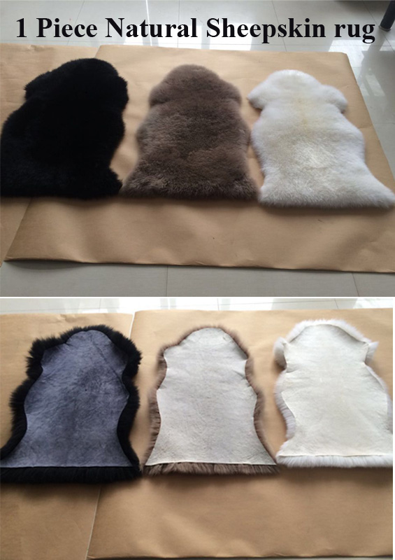 pure white sheepskin rugs