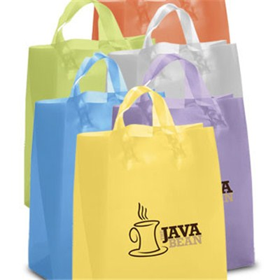 Iris Frosted Brite Shopping Bags