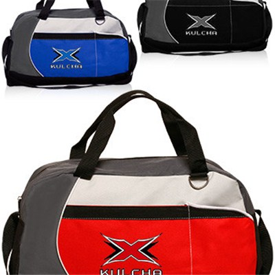 Custom Printed Zippered Duffle Bags With Pockets
