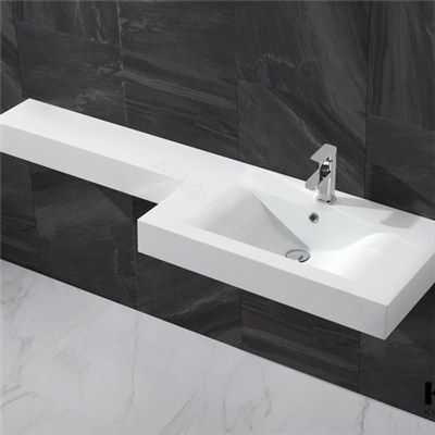 KKR Small Wall Hung Wash Basin , Bathroom Marble Handbasin