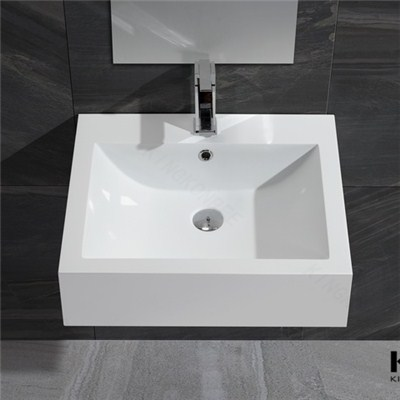 Royal White Acrylic Solid Surface Wall Hung Basin