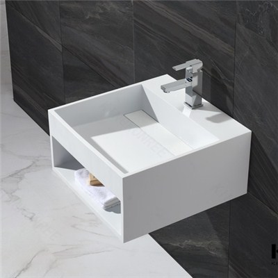 Small Size Solid Surface Wall Hung Basin For Small Space