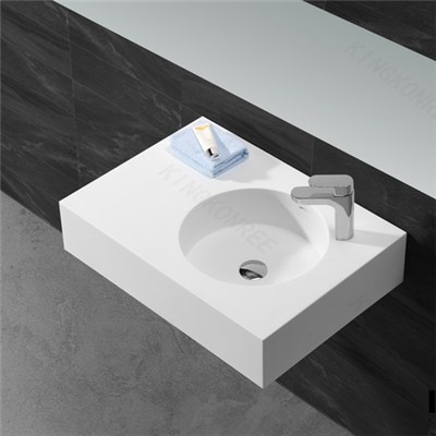 Made In China Artificial Stone Solid Surface Wall Hung Basin