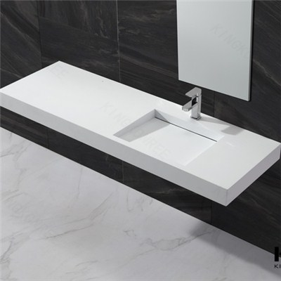 Acrylic Solid Surface Wall-hung Basin Matt Finished Wash Basin
