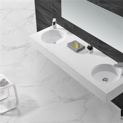 New Design Solid Surface Wall Hung Basin For Bathroom
