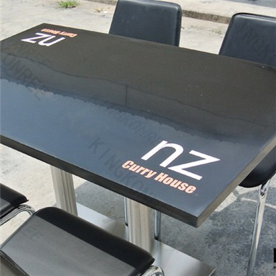 Modern Color Quartz Stone Solid Surface Restaurant Furniture Table
